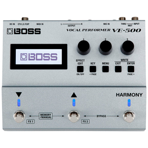PROCESADOR DE EFECTOS VOCAL PERFORMER BOSS VE-500