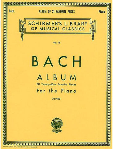 BACH ALBUM 21 FAVORITE PIECES PIANO