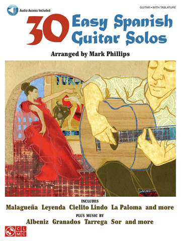 30 EASY SPANISH GUITAR SOLOS TAB /CD