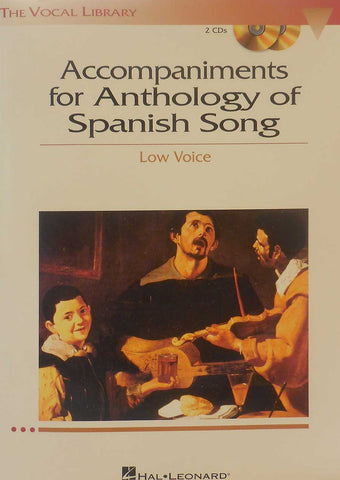 ACCOMPANIMENTS FOR ANTHOLOGY OF SPANISH - LOW VOICE