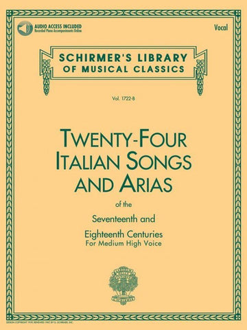 24 ITALIAN SONGS MEDIUM/HIGH VOICE  VARIOUS /CD
