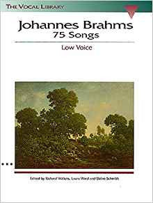 JOHANNES BRAHMS: 75 SONGS LOW VOICE