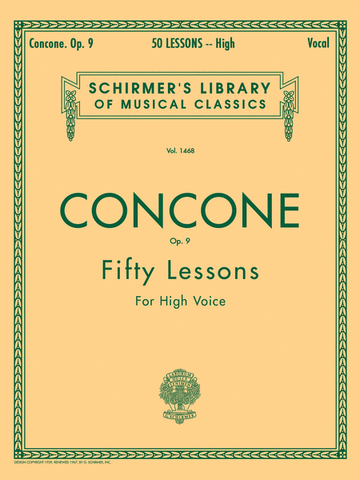 CONCONE 50 LESSONS OP. 9 HIGH VOICE