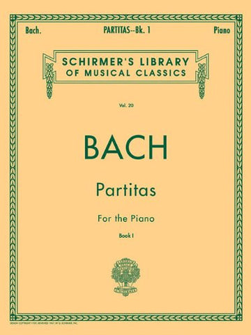 BACH PARTITAS BOOK 1 PIANO