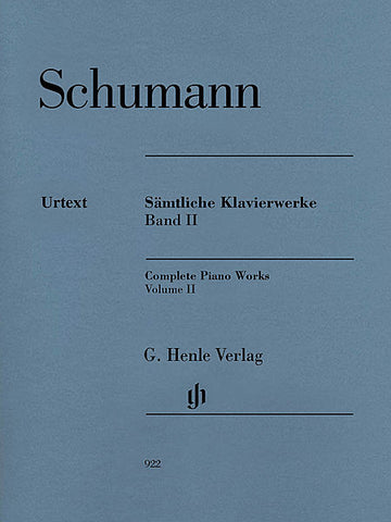 SHUMMANN COMPLETE PIANO WORKS VOL. 2