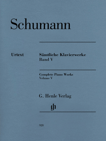 SHUMMANN COMPLETE PIANO WORKS VOL. 5