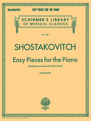 SHOSTAKOVITCH EASY PIECES FOR THE PIANO