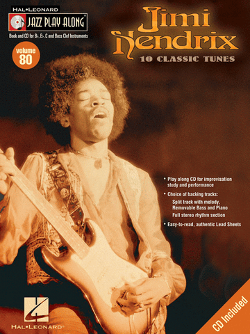 JAZZ PLAY ALONG JIMI HENDRIX VOL. 80 /CD