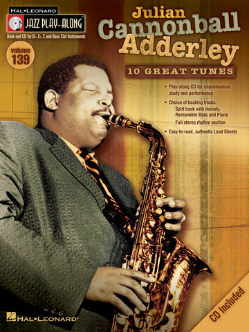 JAZZ PLAY ALONG JULIAN CANNONBALL ADDERLEY VOL. 139