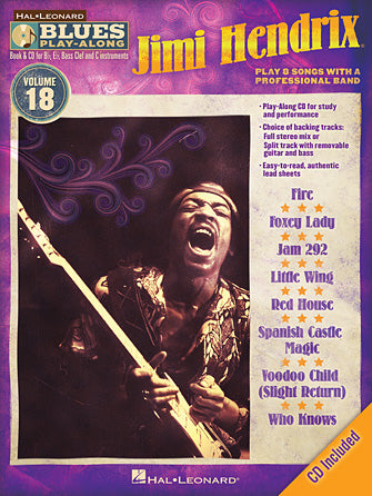 BLUES PLAY ALONG JIMI HENDRIX VOL. 18