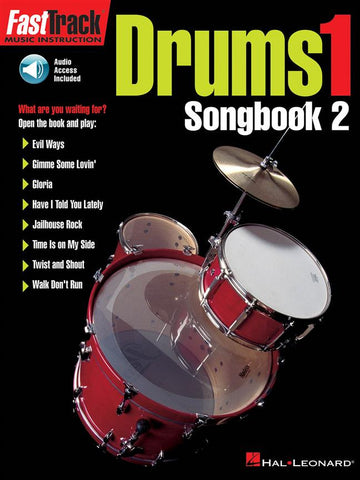 FAST TRACK DRUMS 1 SONG BOOK 2 /CD
