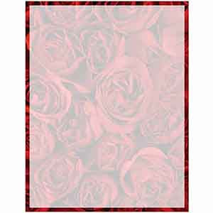 Letter Paper With Roses
