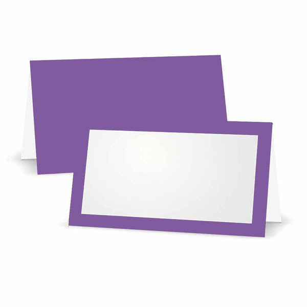 Amethyst Place Cards - Tent Style
