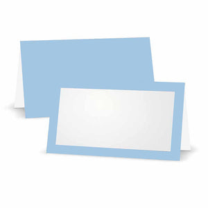 Baby Blue Place Cards - Tent Style