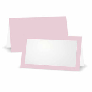 Baby Pink Place Cards - Tent Style