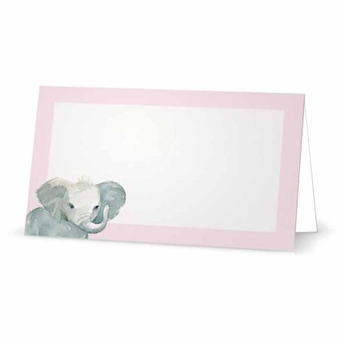 Baby Elephant Place Cards - Tent Style