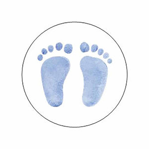 Blue Baby Feet Stickers