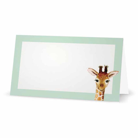 Baby Giraffe Place Cards - Tent Style - SELECT COLOR