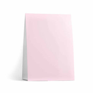 Baby Pink Table Tent Cards