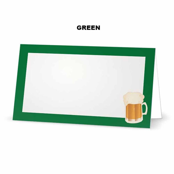 Beer on Green Place Cards