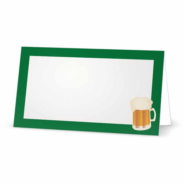 Beer Place Cards  - Tent Style