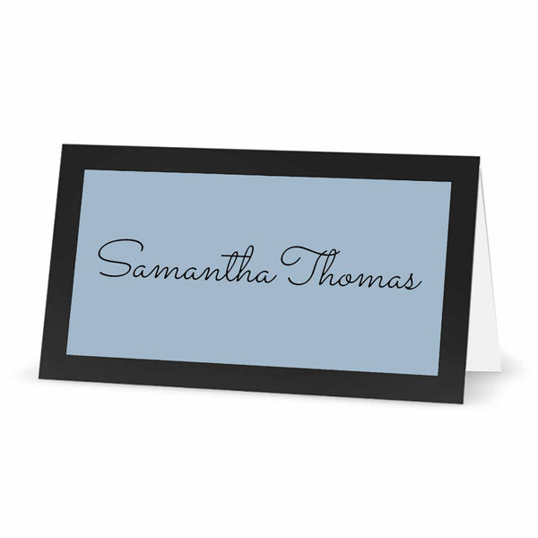 "Labels for Place Cards with Borders - 3"" x 1.5"" - PASTEL BLUE"