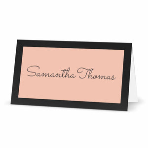 "Labels for Place Cards with Borders - 3"" x 1.5"" - PASTEL PINK"
