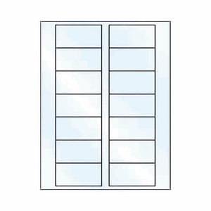 "Place Card Labels for Bordered Place Cards - 3"" x 1.5"" - CLEAR GLOSS"