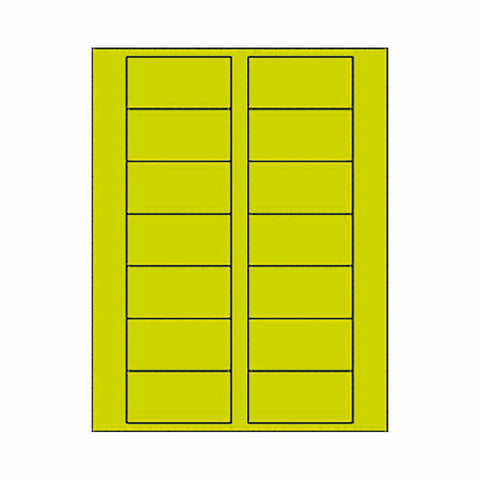 Fluorescent Yellow Place Card Labels