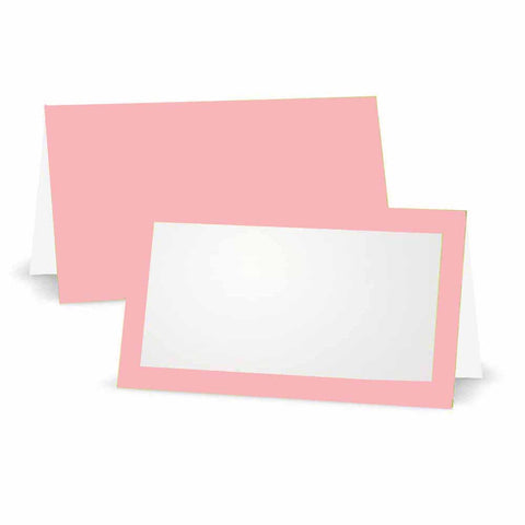 Blush Pink Place Cards - Tent Style