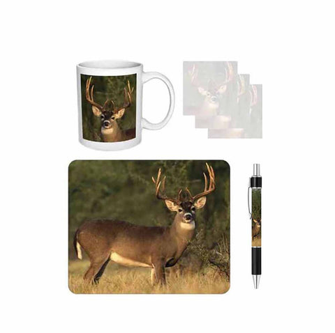 Buck Deer Desk Gift Set