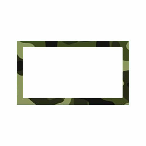 Camouflage Place Cards - Flat Style