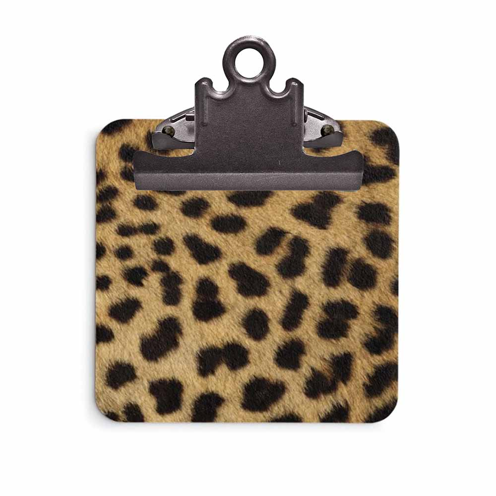 Cheetah Print Clipboard
