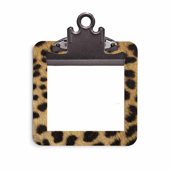 Cheetah Print Sticky Note Clipboard with Sticky Notes