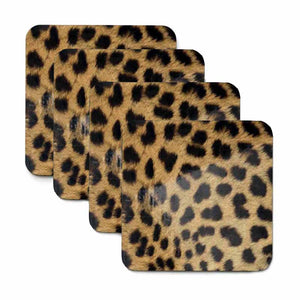 Cheetah Print Coaster Set