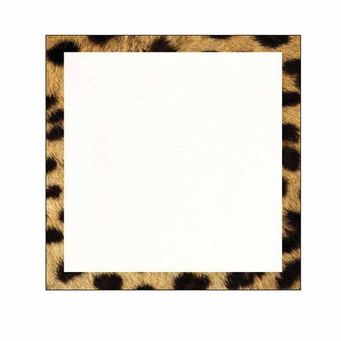 Cheetah Print Border Sticky Notes