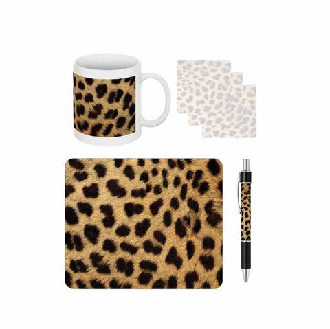 Cheetah Print Desk Gift Set