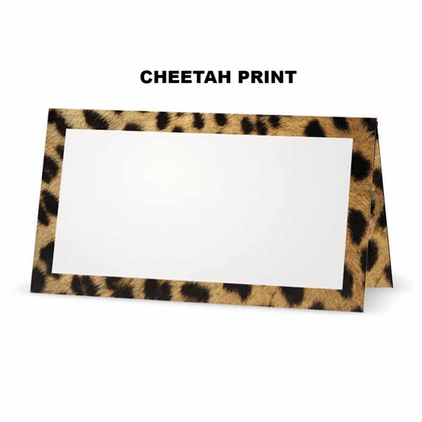 Cheetah Print Place Cards - Tent Style