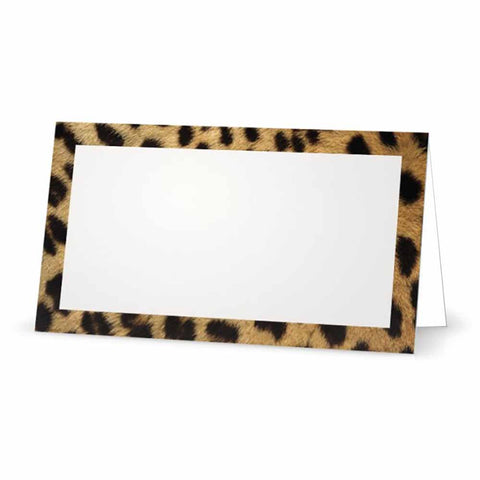 Cheetah animal print place cards.