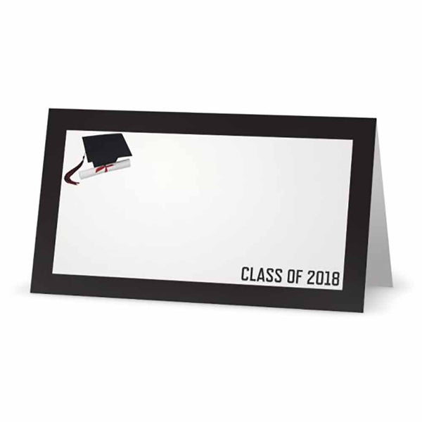 Graduation Class of Your Year Place Cards  - Tent Style - SELECT COLOR