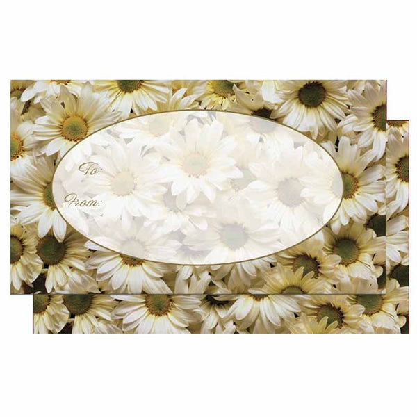 Gift Tags with Daisies - Set of 10