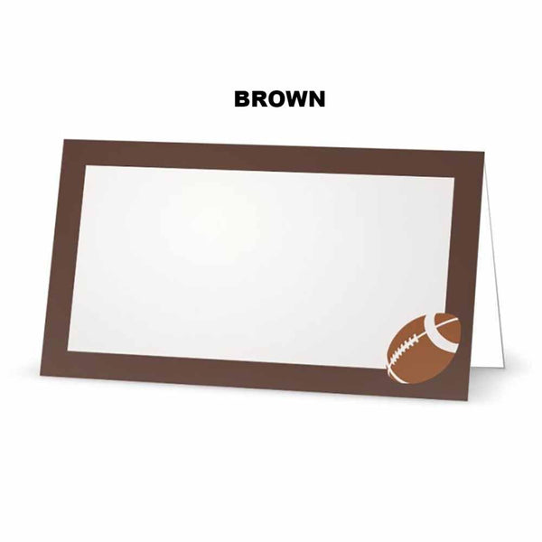 Football Place Cards  - Tent Style - SELECT COLOR