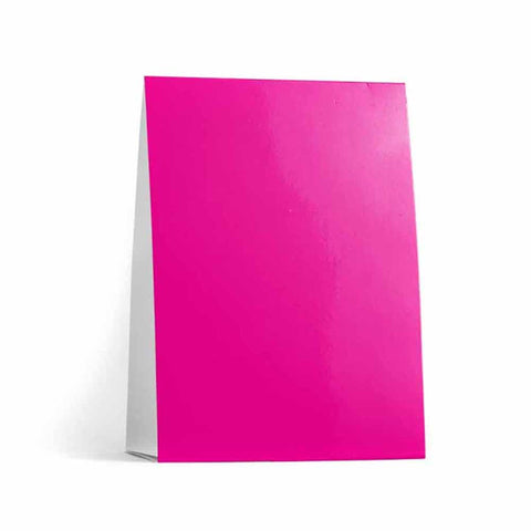 Fuchsia Table Tent Cards