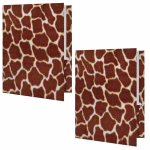 Giraffe Print Folder - Set of 2