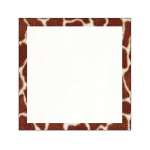 Giraffe Print Border Sticky Notes