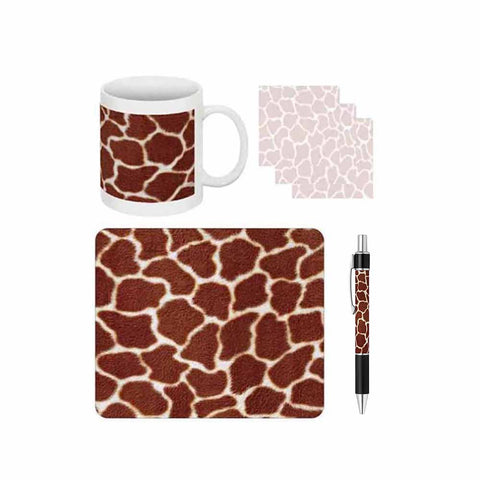 Giraffe Print Desk Gift Set