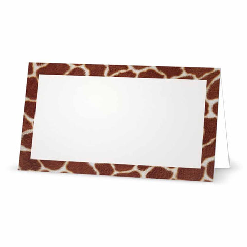 Giraffe Print Place Cards - Tent Style