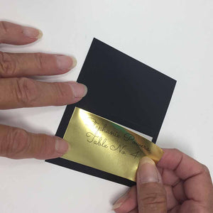 "Labels for Place Cards with Borders - 3"" x 1.5"" - GOLD FOIL"
