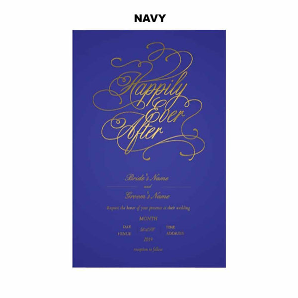 Happily Ever After Wedding Invitations - SELECT COLOR