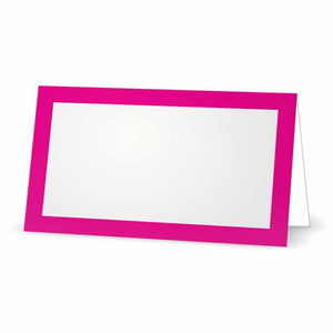 Fuchsia Place Cards - Tent Style